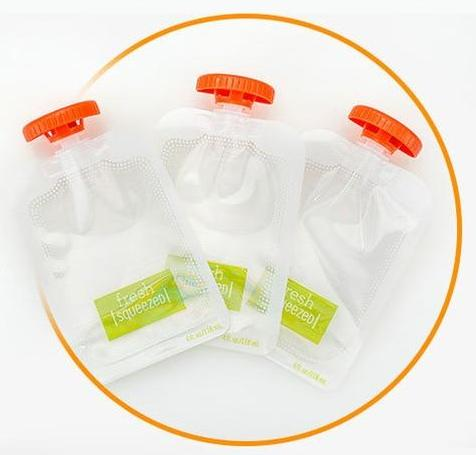 Baby Squeeze Station's Pouches and Caps