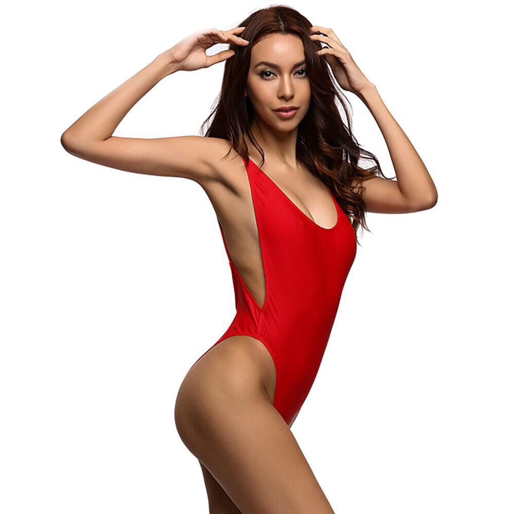Valerie Red High-Cut One Piece - That Mermaid Shop