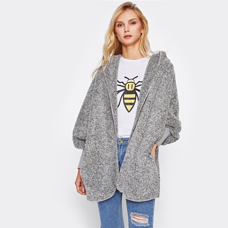 Polly Hooded Fluffy Jacket - That Mermaid Shop
