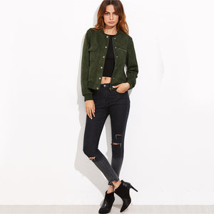 Olive Bomber Jacket - That Mermaid Shop