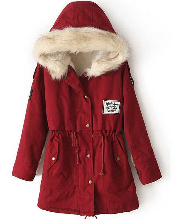 Scarlet Parka with Faux Fur Lining - That Mermaid Shop