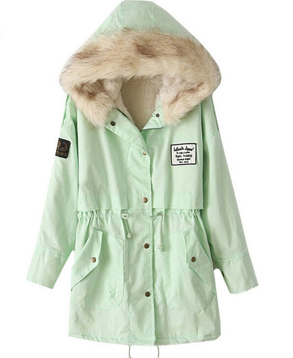 Mint Parka with Faux Fur Lining - That Mermaid Shop