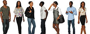 DOSCH 2D Viz Images People - African American - Casual