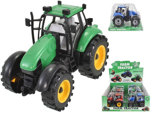 Tractor Toy In Green With Friction Action