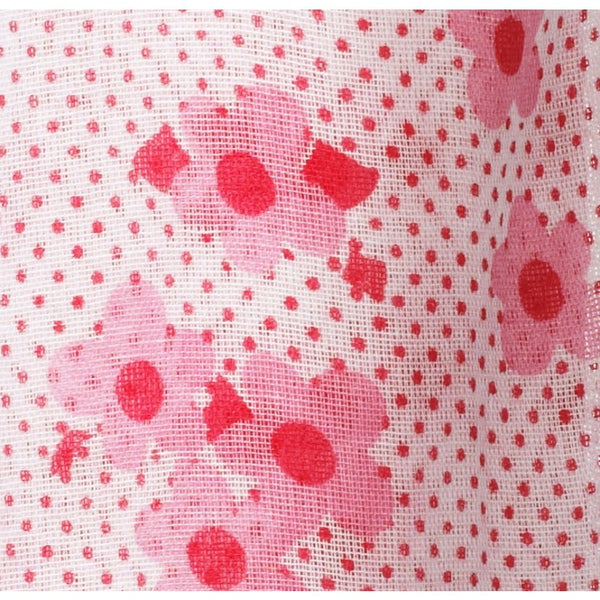 Piccalilly Pink Floral Muslin Swaddle