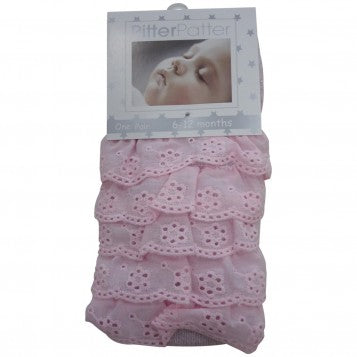 Pitter Patter Frilly Bottom Baby Tights