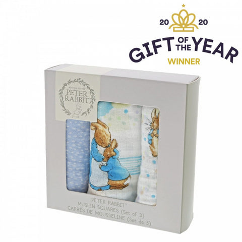 Peter Rabbit Three Piece Muslins Gift Set