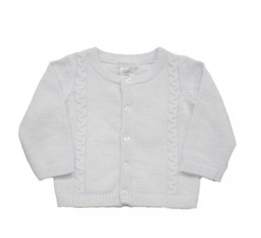 Pitter Patter Cable Knit Cotton Cardigan