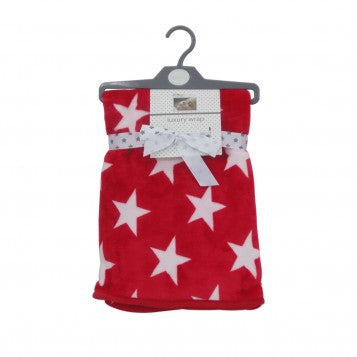 Pitter Patter Red Star Fleece Blanket