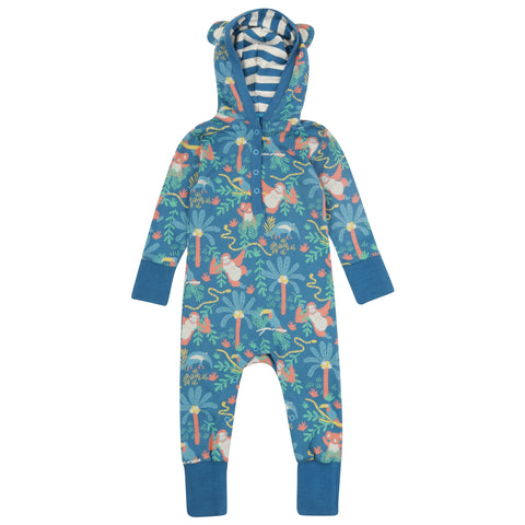 Piccalilly Rainforest Hooded Playsuit