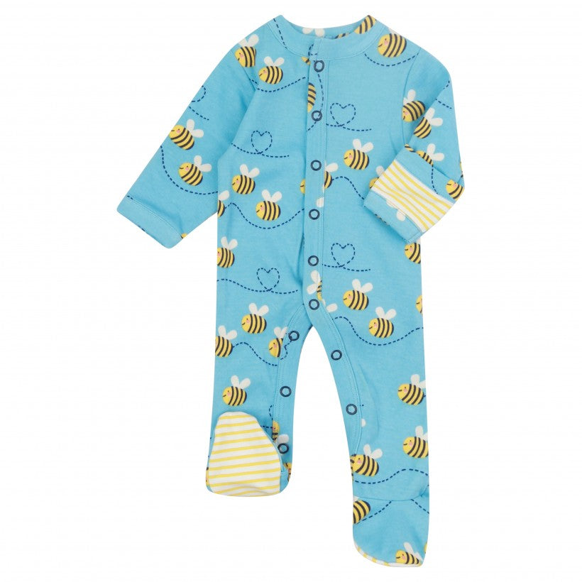 Piccalilly Bumblebee Footed Sleepsuit