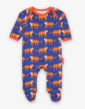 Toby Tiger Tiger Print Footed Sleepsuit