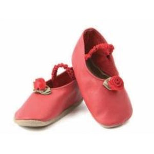 Starchild Red Rose Leather Baby Shoes