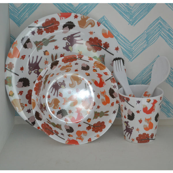 Powell Craft Woodland Melamine Dining Set