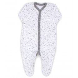 Rapife Grey Ditsy Star Footed Sleepsuit