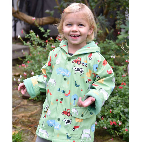 Farm Yard Animals Raincoat