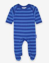 Toby Tiger Baby Blue Stripe Footed Sleepsuit