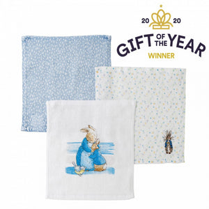 Peter Rabbit Three Piece Face Cloth Set