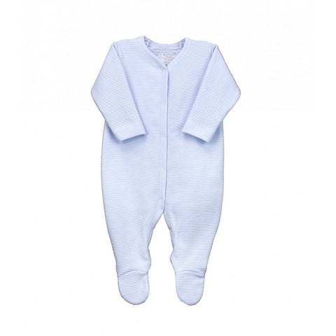 Rapife Ribbed Blue Footed Sleepsuit