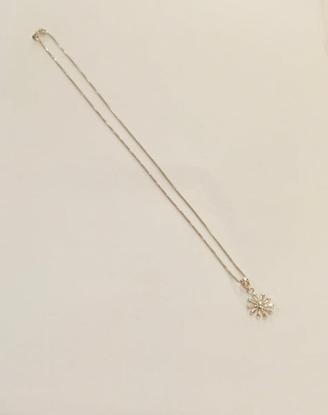 AG Silver Daisy Pendant With Chain