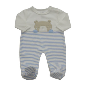 Pitter Patter Blue Bear Baby Suit