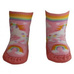 Powell Craft Unicorn Moccasin Slippers