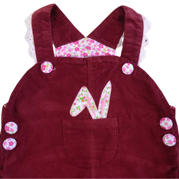 Powell Craft Rabbit Applique Cord Dungarees
