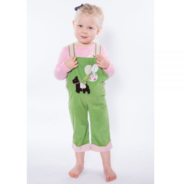 Powell Craft Scottie Dog Applique Cord Dungarees