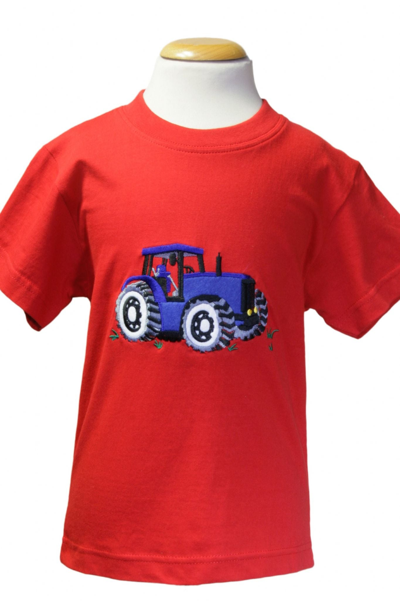 Red T-shirt With Blue Tractor