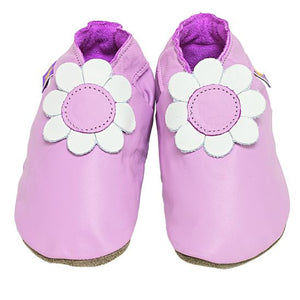 Starchild Pink Daisy Leather Baby Shoes
