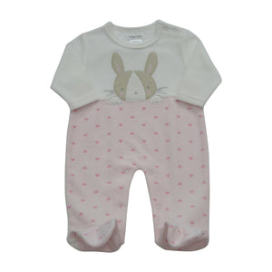 Pitter Patter Pink Bunny Baby Suit