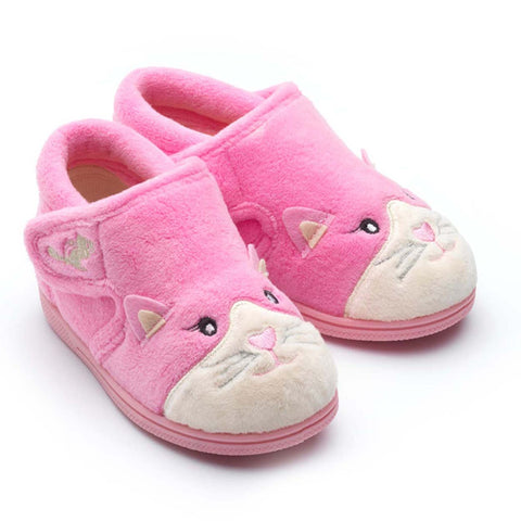 Chipmunks Kiki Pink Cat Slippers