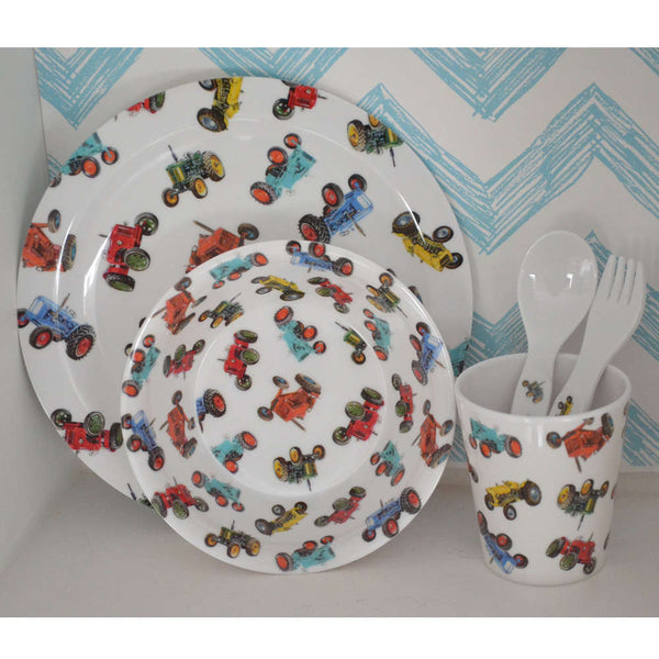 Powell Craft Tractor Melamine Dining Set