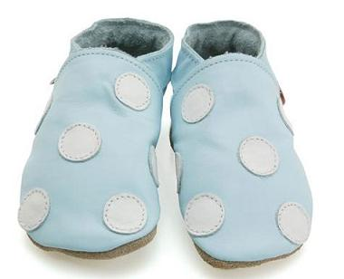 Polka Dot Leather Baby Shoes