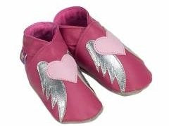 Pink Angel Leather Baby Shoes