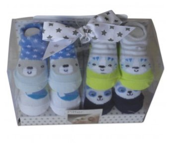 Pitter Patter Cheeky Animals Baby Socks