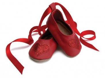 Starchild Ballerina Red Leather Baby Shoes
