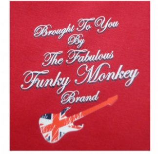 Funky Monkey Rock Guitar T Shirt