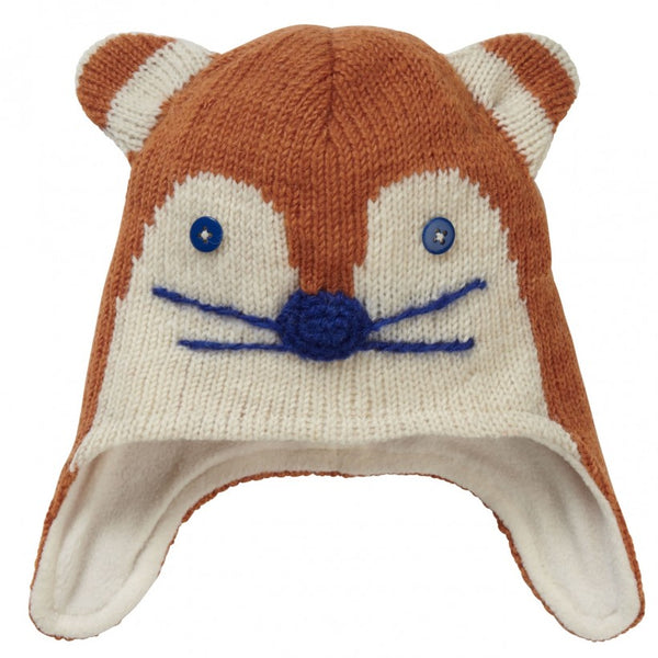 Piccalilly Ginger Fox Knitted Hat