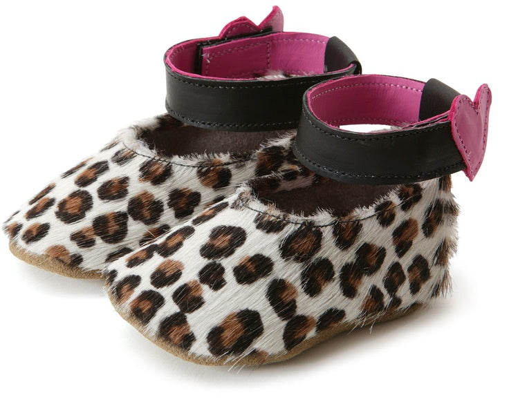 Leopard Print Leather Baby Shoes