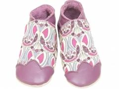 Liberty fabric Mauverina Grape Baby girl Shoes