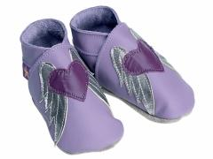 Grape Angel Leather Baby Shoes