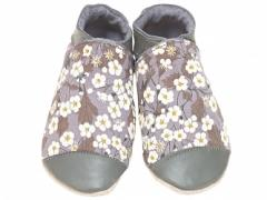 Liberty fabric Mitsi Grey Baby girl Shoes