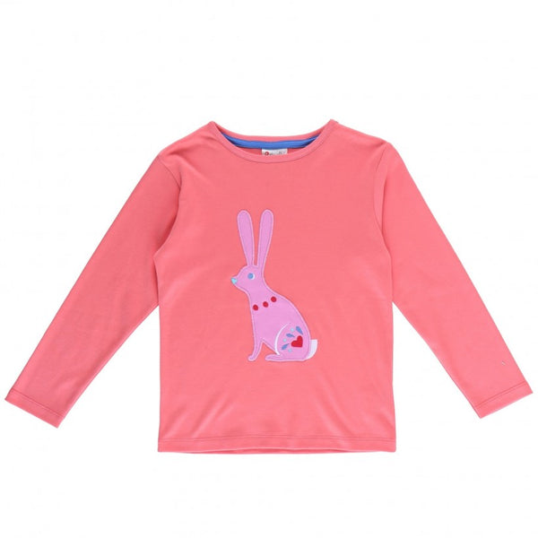 Piccalilly Coral Applique Bunny Top