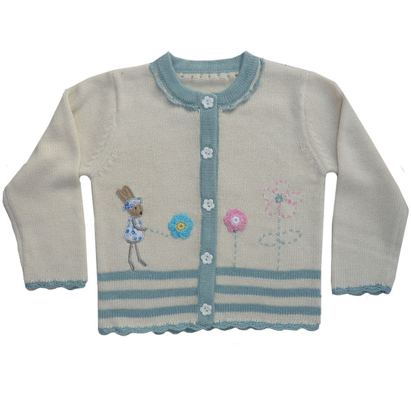 Powell Craft Knitted Bunny Cardigan