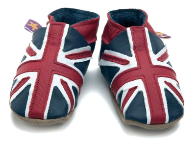 Starchild Union Jack Leather Baby Shoes