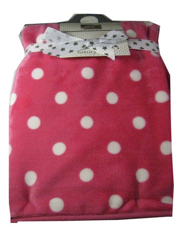 Pitter Patter Polka Dot Fleece Blanket