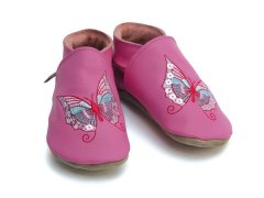 Starchild Butterfly Leather Baby Shoes