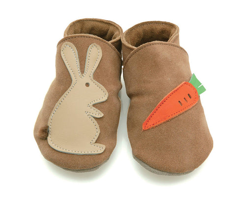 Starchild Rabbit & Carrot Leather Baby Shoes