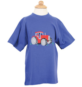 Blue T Shirt With Red Tractor